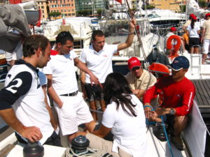 The sailing regatta: training and fun