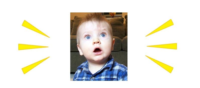 Bambino sorpreso