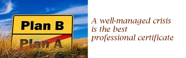 Emergences - A well-managed crisis is the best professional certificate