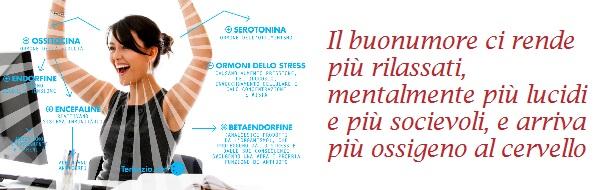 Il buonumore ci rende più rilassati mentalmente più lucidi e socievoli, e arriva piu ossigeno al cervello