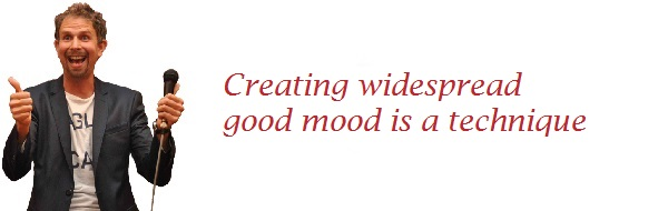 Creating widespread good mood is a technique