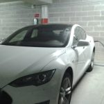 Tesla recharge point at Grand Hotel Villa Serbelloni Lake Como