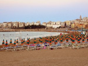Puglia beaches disposable plastic