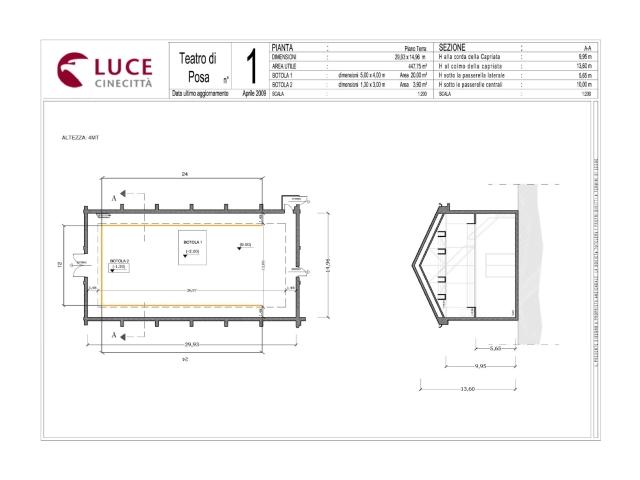 Teatro 1 - Cinecittà Luce Roma - Lazio