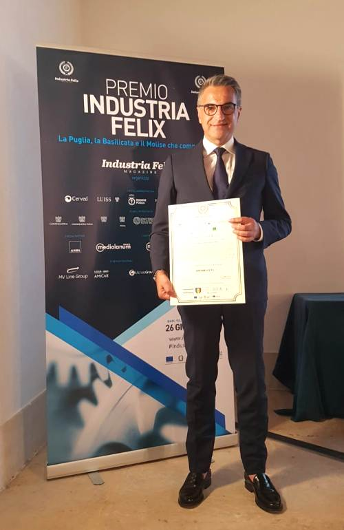 Greenblu Vincenzo Gentile Industria Felix Award